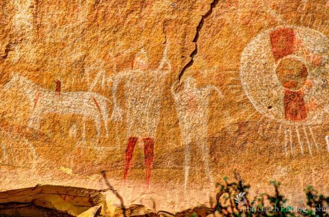 Ute Hunting Scene - Sego Canyon, Utah